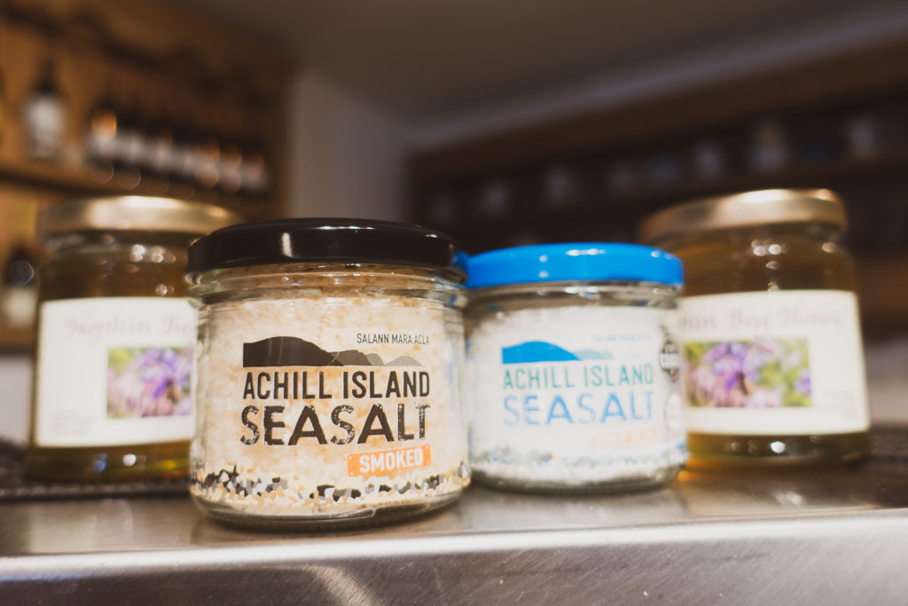 achill island sea salt on gourmet food traiil