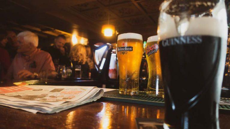 Beer in Irish pub