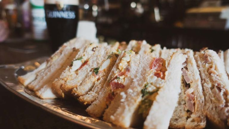 guinness and sandwiches