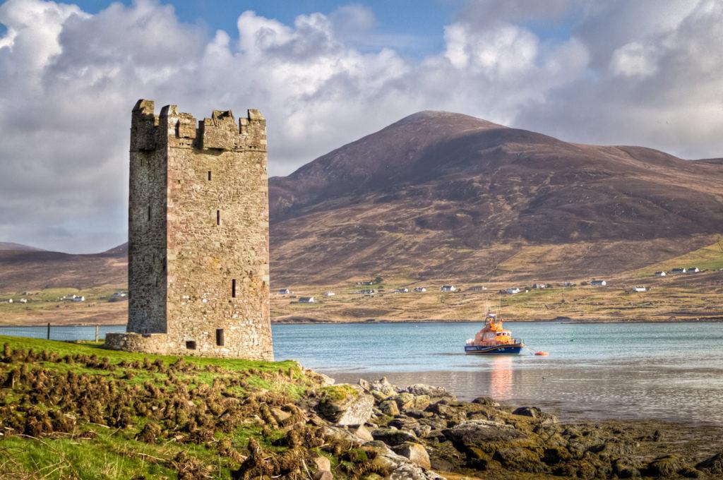 Granuaile's Tower, Kildavnet, Achill Island, Ireland