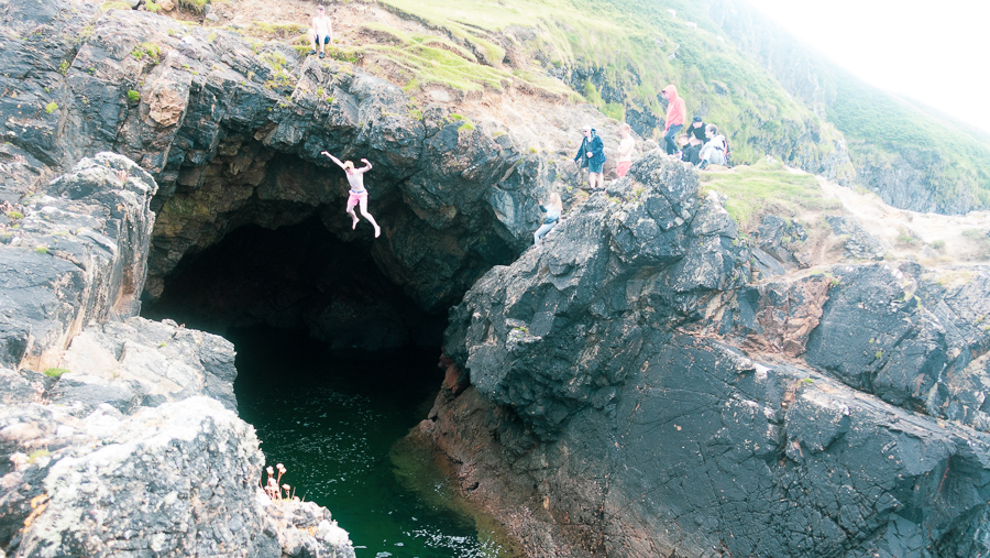 Cliff Jumping at Old Head