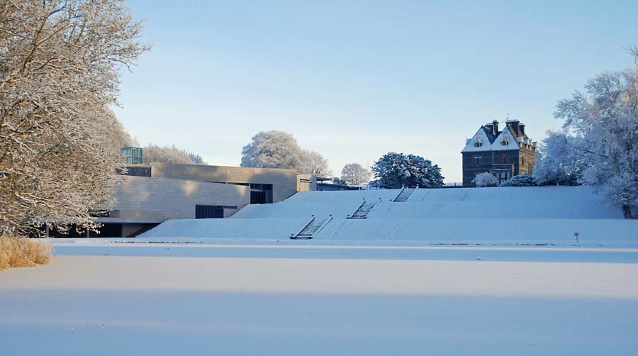 snow covered country life museum turlough