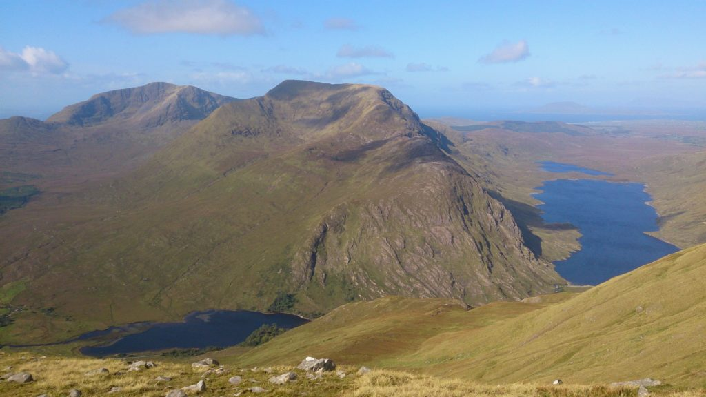 climbing Mweelrea Mountain county mayo