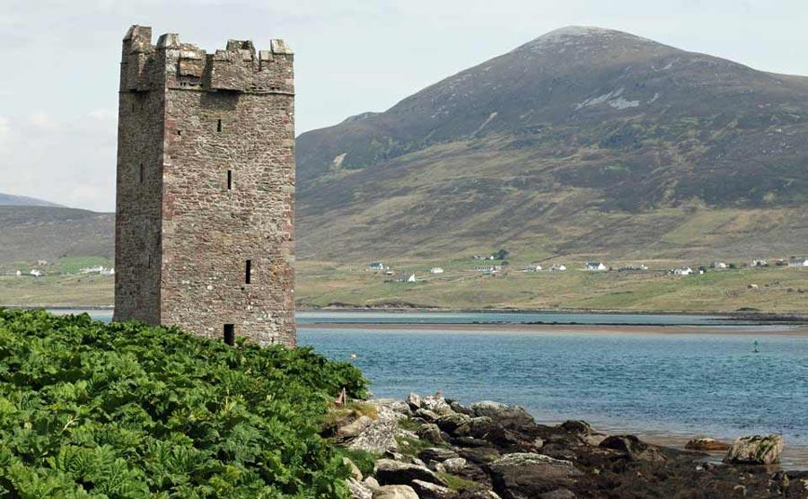 Kildavnet Castle achill