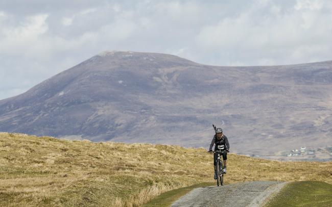 biking on clare island