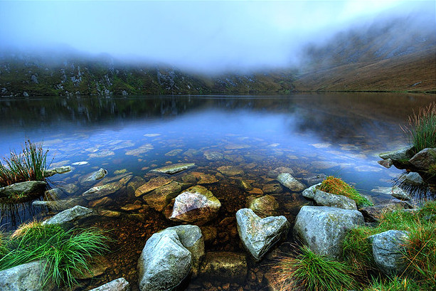 Corrymore lake, a prime source of drinking water for the Achill Island,