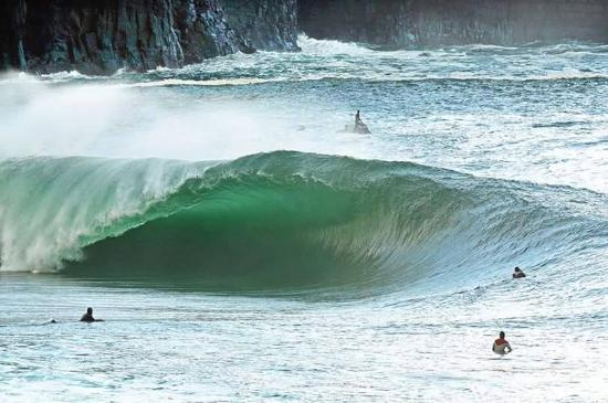 surfing on achill island