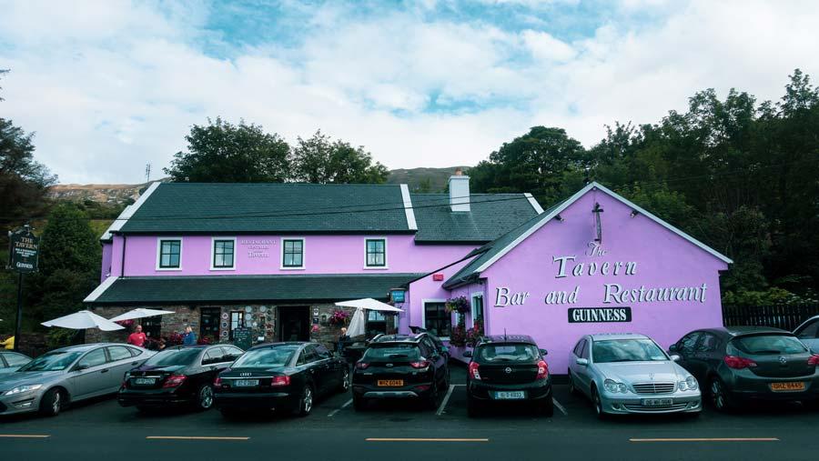 Tavern Pub underneath Croagh Patrick