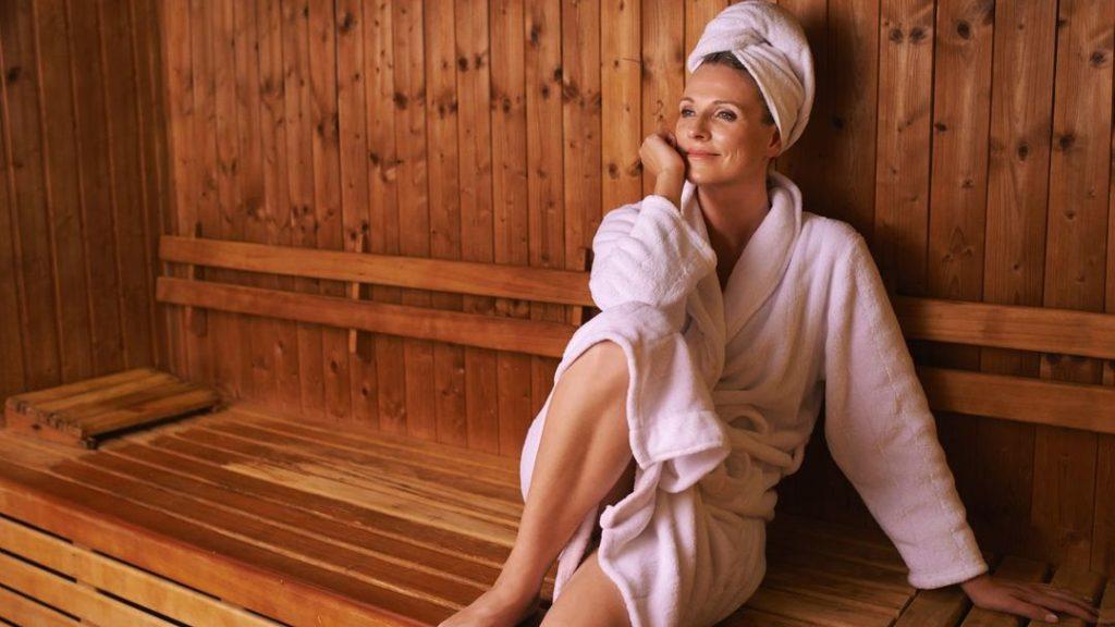 lady in sauna