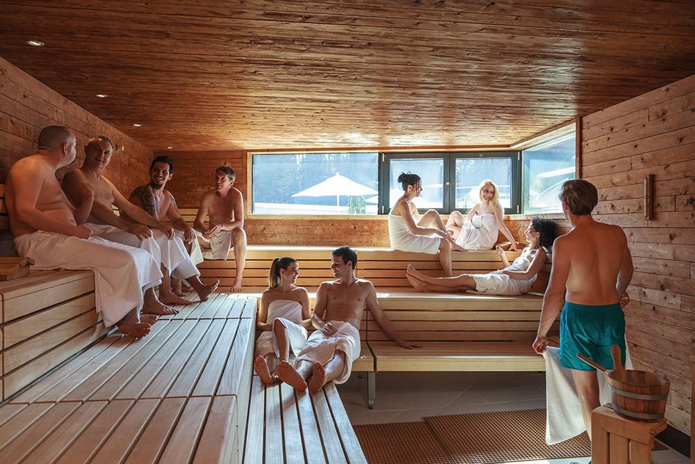 talking in sauna
